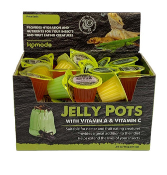 Komodo Jelly Pots Insect Food Fruit Flavor Display 40ct/16gram