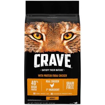 Crave Chicken Dry Cat Food 10lb