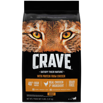 Crave Chicken Dry Cat Food 4lb