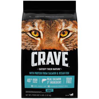 Crave Salmon & Oceanfish Dry Cat Food 4lb