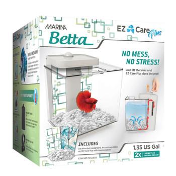 Marina EZ Care Plus Betta Aquarium 1.3 gal White