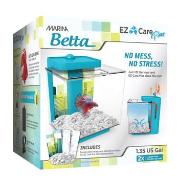 Marina EZ Care Plus Betta Aquarium 1.3 gal Blue