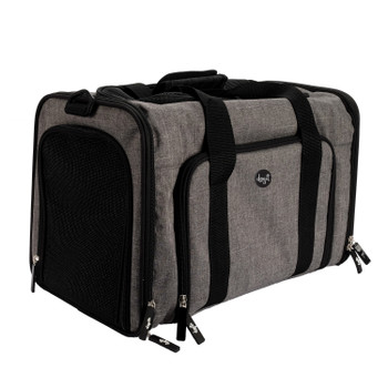 Dogit Explorer Expandable Carry Bag, Gray/Black