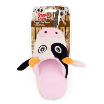 AFP Doggies Cow Slipper, Pink/Wht (3441)