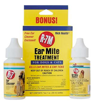 Rich Health Gimborn R-7 Ear Mite Treatment Kit For Cats And Do-81565