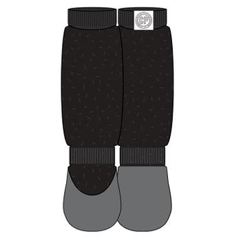 Canada Pooch Dog Slouchy Socks Black Lurex Xlarge