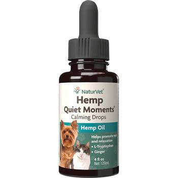 Naturvet Dog Cat Quiet Moments Hemp Drops 4oz