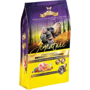 Zignature Dog Small Bites Grain Free Turkey 4lb