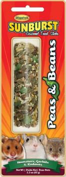 Higgins Sunburst Treat Sticks Peas & Beans Hamster Gerbil & Rodent 2.3 oz