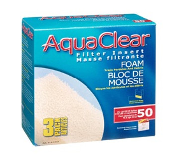 Aqua Clear 50 (200) Foam 3pk {requires 3-7 Days before shipping out}