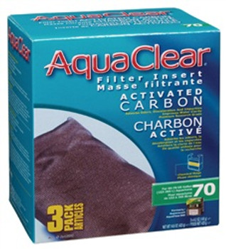 Aqua Clear 70 (300) Carbon 3pk{requires 3-7 Days before shipping out}