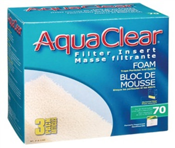 Aqua Clear 70 (300) Foam 3pk {requires 3-7 Days before shipping out}