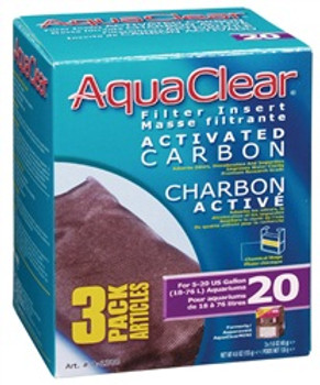 Aqua Clear 20 (mini) Carbon 3pk {requires 3-7 Days before shipping out}