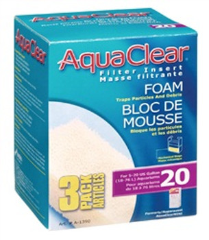 Aqua Clear 20 (mini) Foam 3pk {requires 3-7 Days before shipping out}