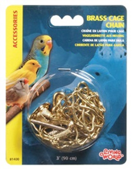 Lw Brass Cage Chain 3 Ft {requires 3-7 Days before shipping out}
