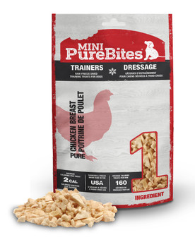 PureBites Mini Trainers RAW Freeze Dried Chicken Breast Treats 2.1 oz
