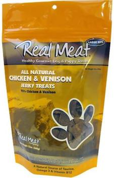 Real Meat Company Dog Jerky Treats Chicken & Venison 4 oz