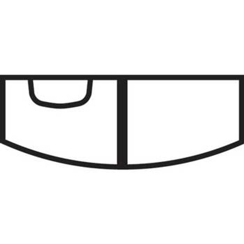 Aqueon Tank Megaflow Bow Black 72 gallon 48x18x23