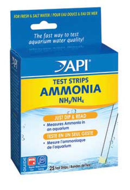 Aquarium Pharmaceuticals Ammonia Aquarium Test Strips