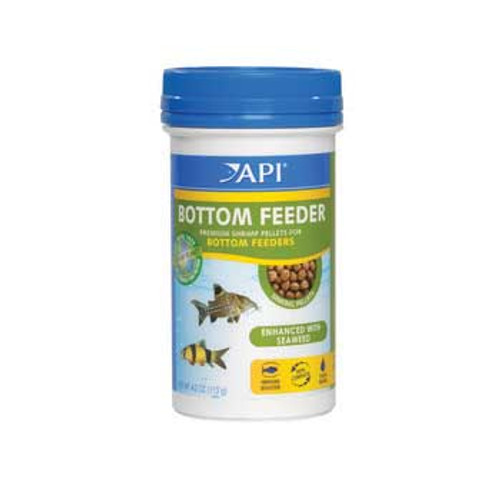 Aquarium Pharmaceuticals Api Bottom Feeder Shrimp Pellet 4 Oz.