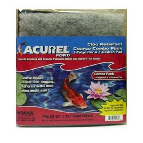 Acurel Loving Pets Pond Filter Pad Polyester / Carbon 12 X 12