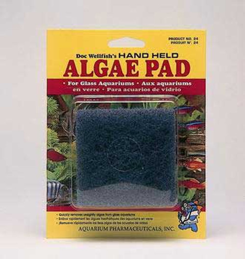 Aquarium Pharmaceuticals Api Doc Wellfish's Hand Held Algae Pad Glass Aquariums