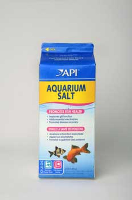 Aquarium Pharmaceuticals Aquarium Salt 65 Oz. 1/2 Gallon Milk Carton