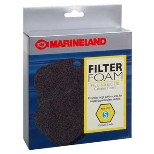 Marineland Filter Foam Fits C-160 And C-220 Canister Filter Rite-size S 2pk