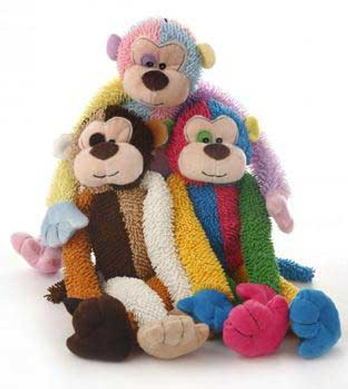 Multipet Multi Crew Monkey Assorted Colors 17in