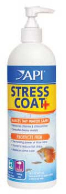 Aquarium Pharmaceuticals Stress Coat With Pump Top 16 Oz.