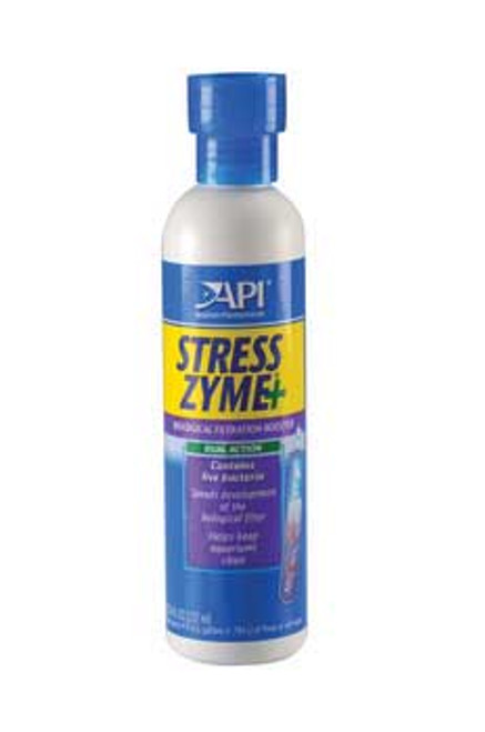 Aquarium Pharmaceuticals Stress Zyme 8 Oz.