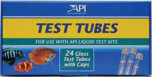 Aquarium Pharmaceuticals Api Glass Test Tubes With Caps 24pk