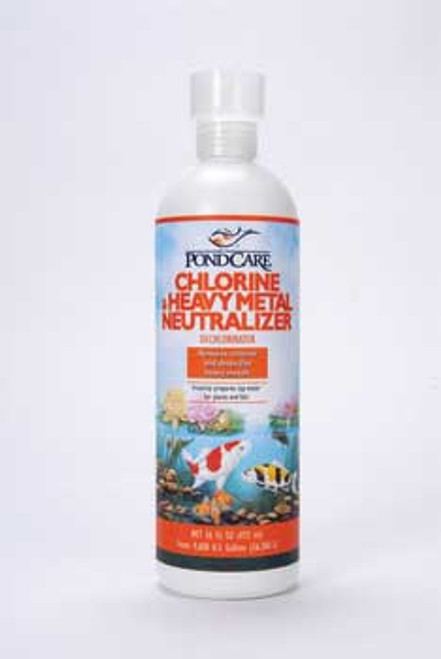 Aquarium Pharmaceuticals Pondcare Chlorine & Metal Neutralizer 16 Oz.