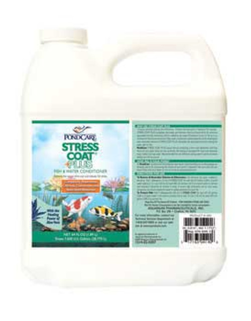 Aquarium Pharmaceuticals Pondcare Stress Coat 64 Oz.