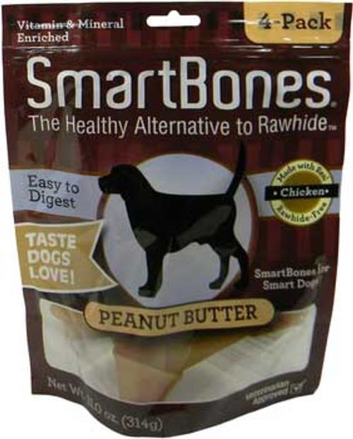 Smart BoneMatrix Smartbones Peanut Butter Medium 4 Pk.
