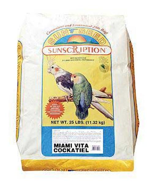 Sun Seed Cockatiel Miami Vita Mix 25 Lb.
