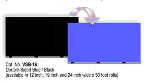 Blue Ribbon Vibran-sea Double Sided Background Blue And Black 24inx50ft