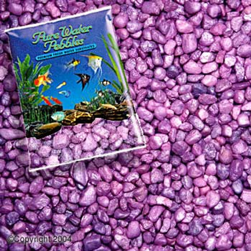 World Wide Imports Pure Water Pebbles Premium Fresh Water Substrates Lavender Frost 5lb