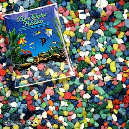World Wide Imports Pure Water Pebbles Premium Fresh Water Substrates Rainbow 5lb