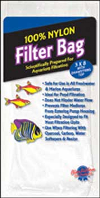 Blue Ribbon Nylon Filter Bag With Draw String Small 3x8in