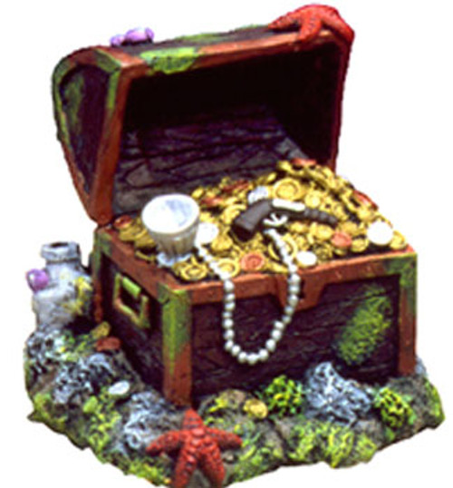 Blue Ribbon Exotic Environments Captain Kidds Buried Treasure Chest 3x3x3in
