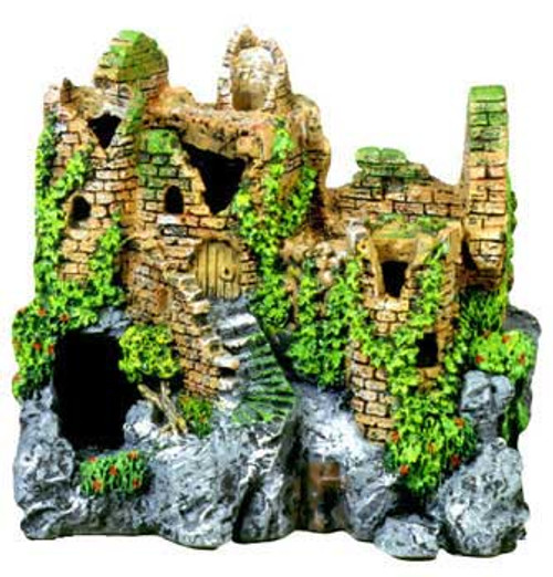 Blue Ribbon Exotic Environments Forgotten Ruins Crumbling Castle 7.5x5.5x7in