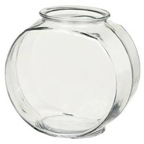 Anchor Hocking Classic Glass Drum Style Fish Bowl 1 Gal