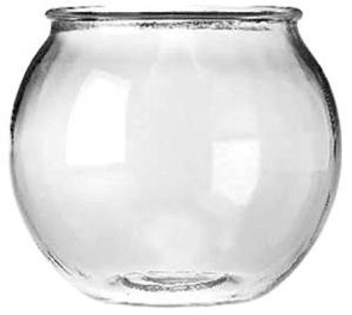 Anchor Hocking Glass Round Fish Bowl .5 Gal
