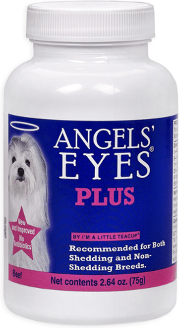Angels #; Eyes PLUS Tear Stain Powder is a special all natural enhanced anti-tear stain formula specifically developed for both dogs and cats for unsightly tear stains from the inside out!