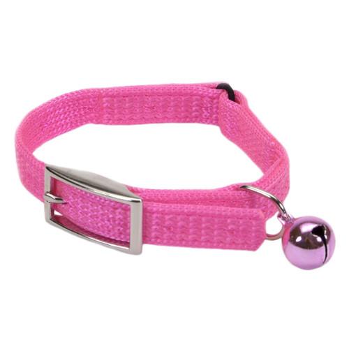 Coastal Sassy Snag-proof Nylon Safety Cat Collar Neon Pink 3/8x12in
