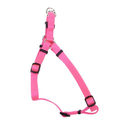 Coastal Comfort Wrap Adjustable Nylon Harness Neon Pink 3/4x20-30in