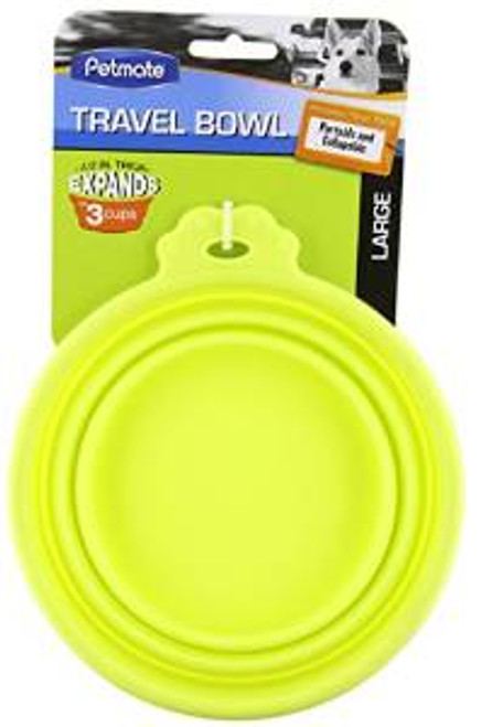 Petmate Silicone Round Travel Bowl 3 Cup ..