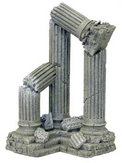 Blue Ribbon Exotic Environments 3 Column Ruins Corner Section 9x6.5x11in