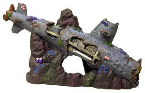 Blue Ribbon Exotic Environments Large Sized Sunken Submarine 12in